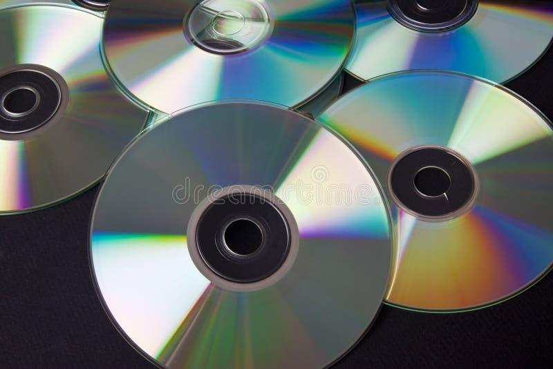 Pilha dos CD fotos de stock