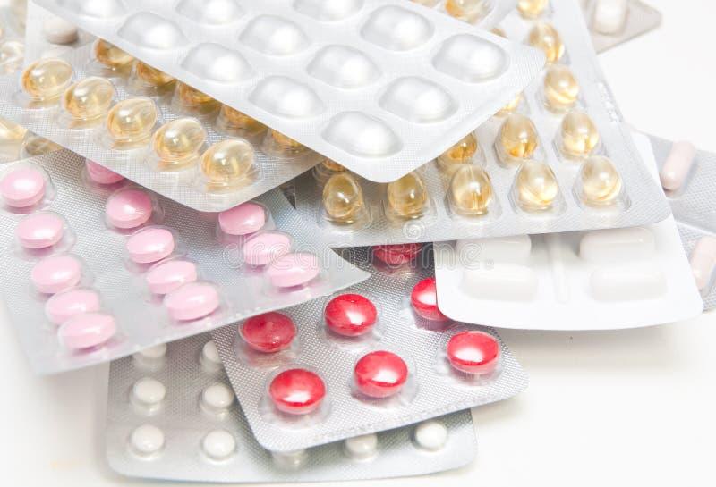 Pilha dos comprimidos imagem de stock royalty free