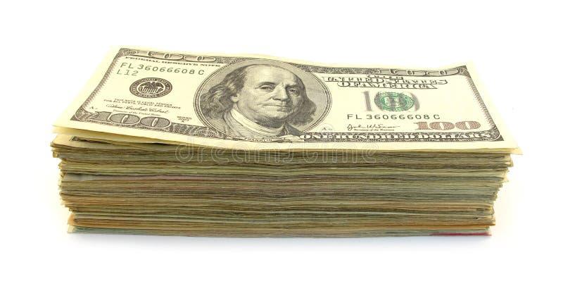 Pilha dos dólares fotografia de stock royalty free