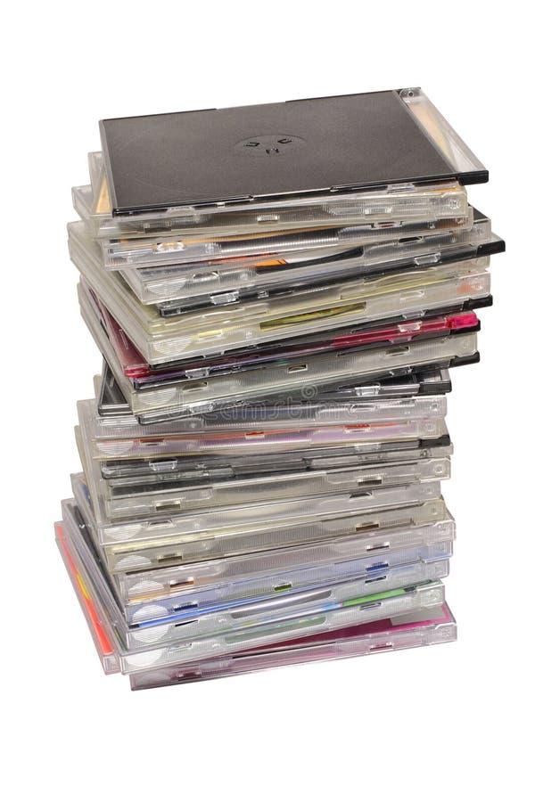 Download Pilha dos discos foto de stock. Imagem de brilhante, communication - 12806450