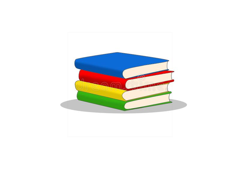 Pilha dos livros ilustração royalty free