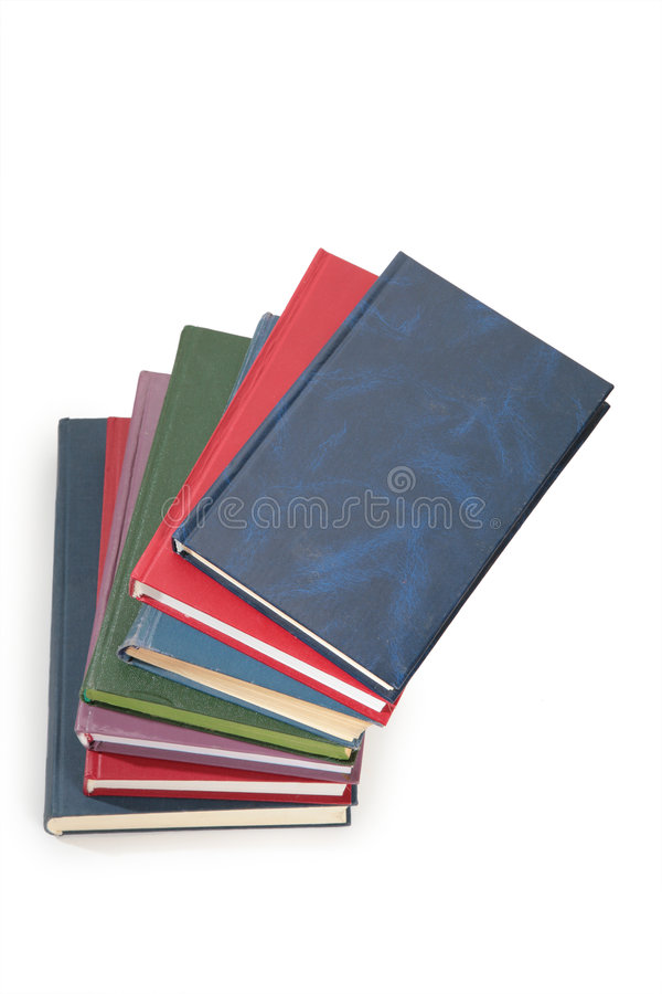 Pilha dos livros da parte superior imagens de stock