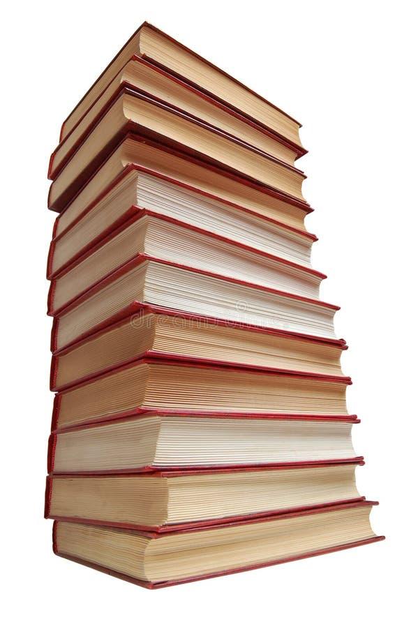 Pilha dos livros vermelhos imagens de stock royalty free