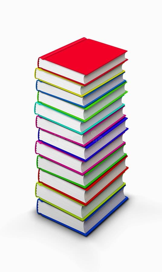 Pilha elevada de livros ilustração do vetor