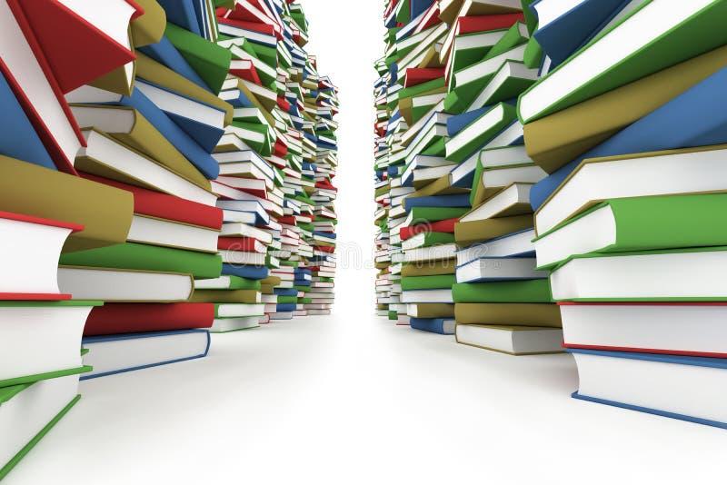 Pilha enorme de livros ilustração do vetor