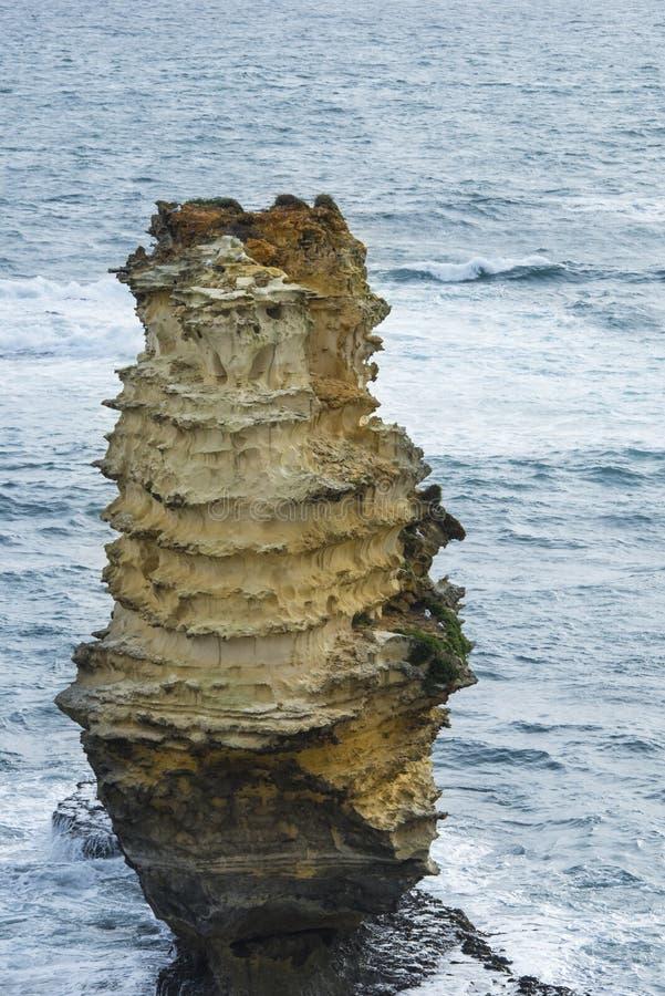 Pilha estrada do oceano do mar na grande, Austrália imagens de stock royalty free