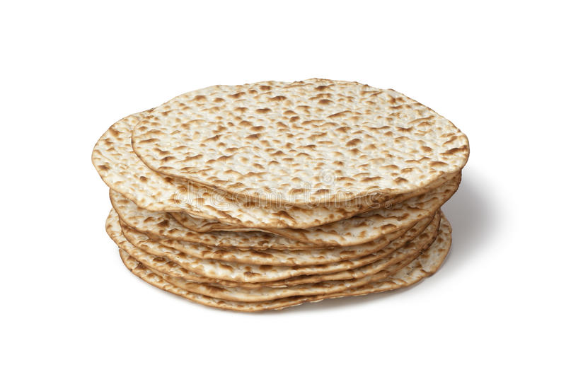 Pilha fresca do matzah foto de stock royalty free