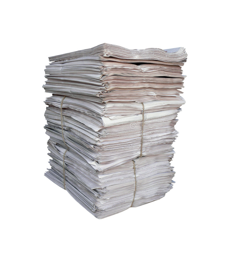 Pilha grande dos jornais fotos de stock royalty free