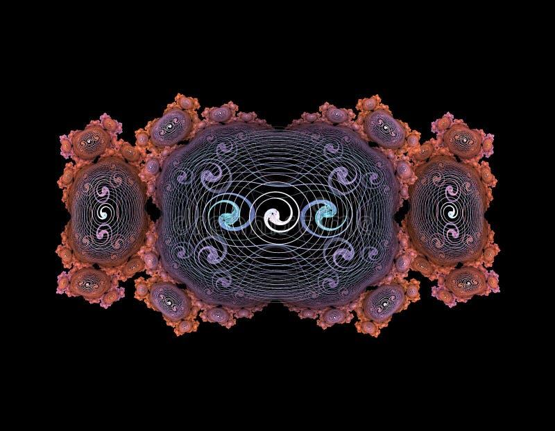 Pilha ou partícula abstrata ilustração stock