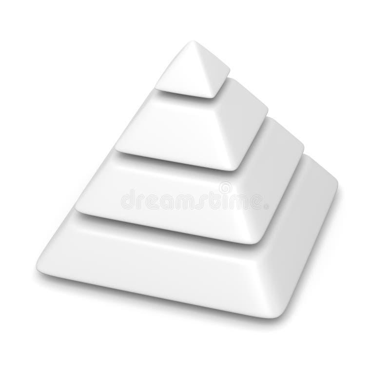 Pilha vazia dos níveis da pirâmide 4 ilustração royalty free
