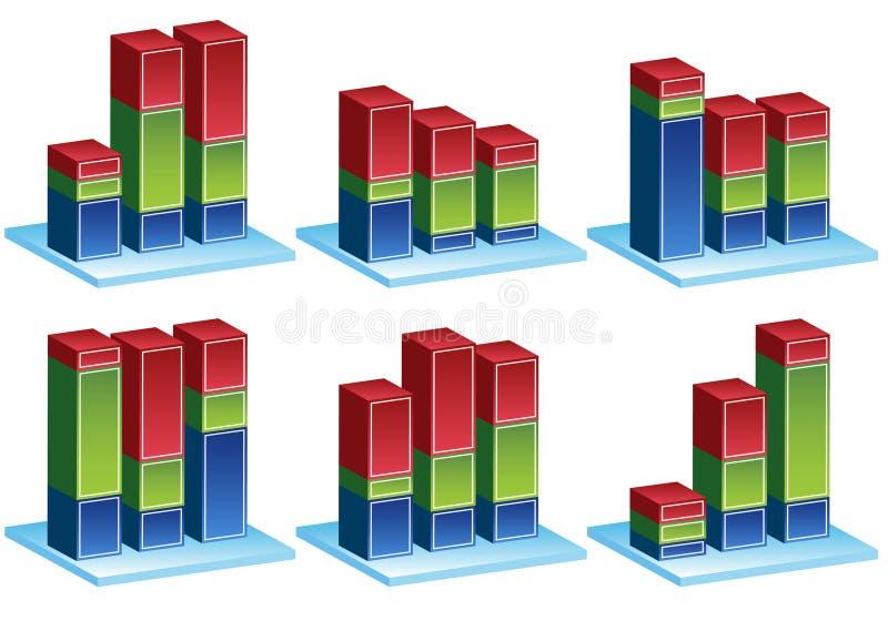 Pilhas da variação ilustração stock