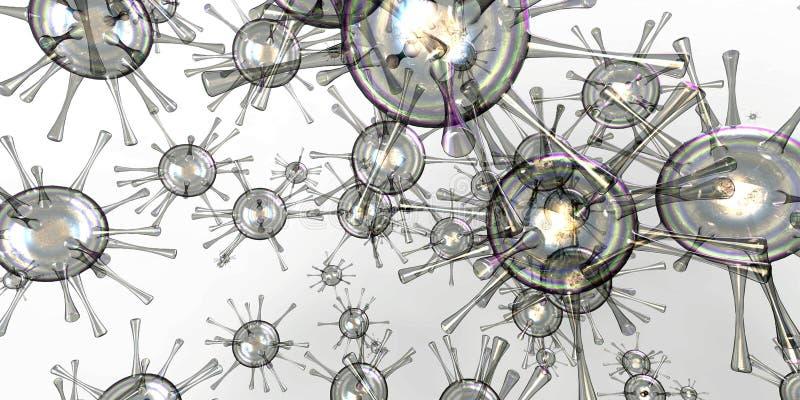 pilhas das bactérias 3d ilustração stock