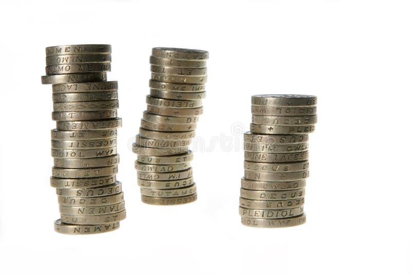 Pilhas das libras imagem de stock royalty free