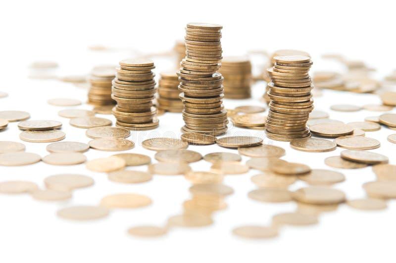 Pilhas das moedas foto de stock royalty free