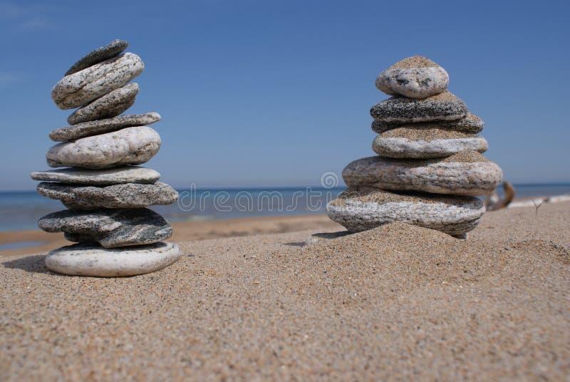 Pilhas das pedras imagens de stock