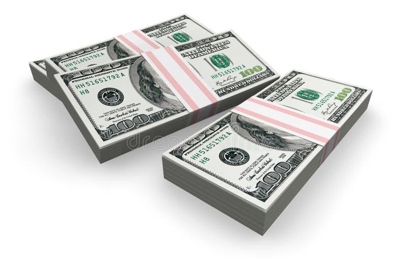 Pilhas de dólares ilustração royalty free