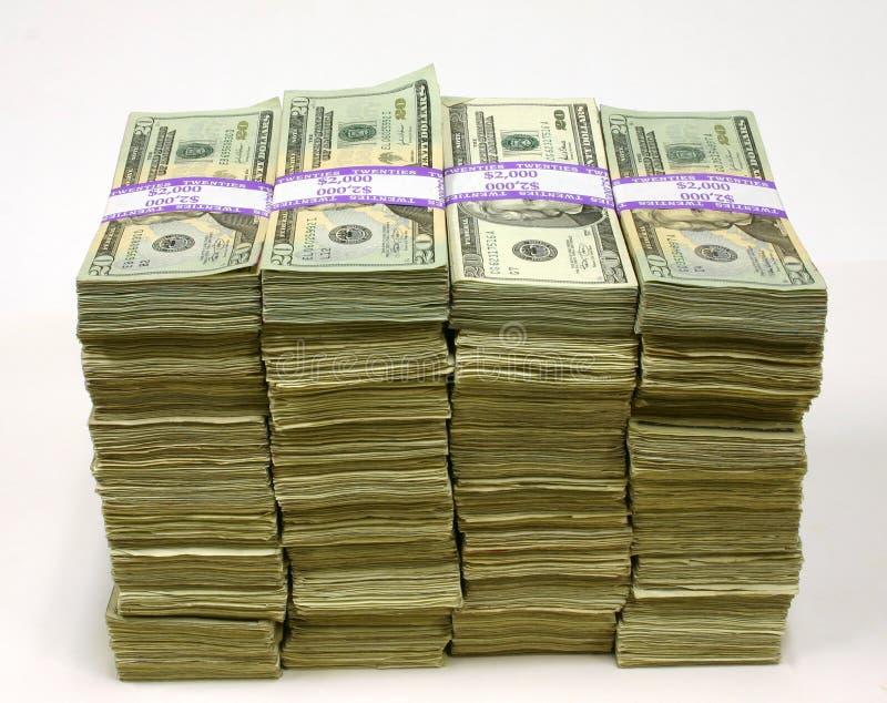 Pilhas de dinheiro imagens de stock royalty free