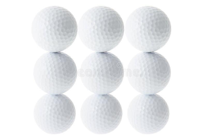 Pilhas de esferas de golfe foto de stock royalty free