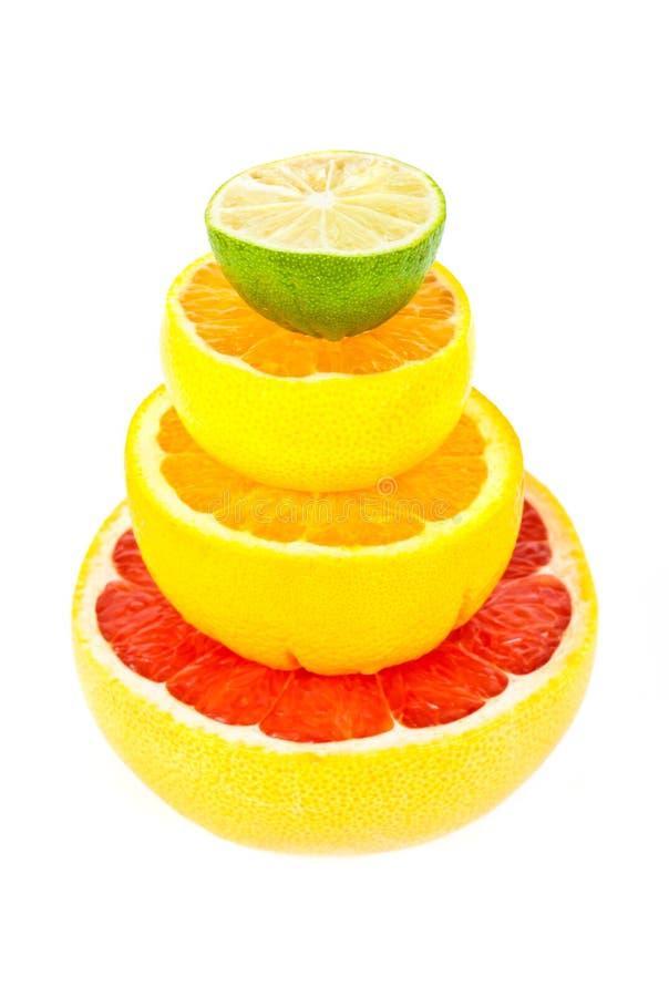 Pilhas de fruta cortada imagens de stock royalty free