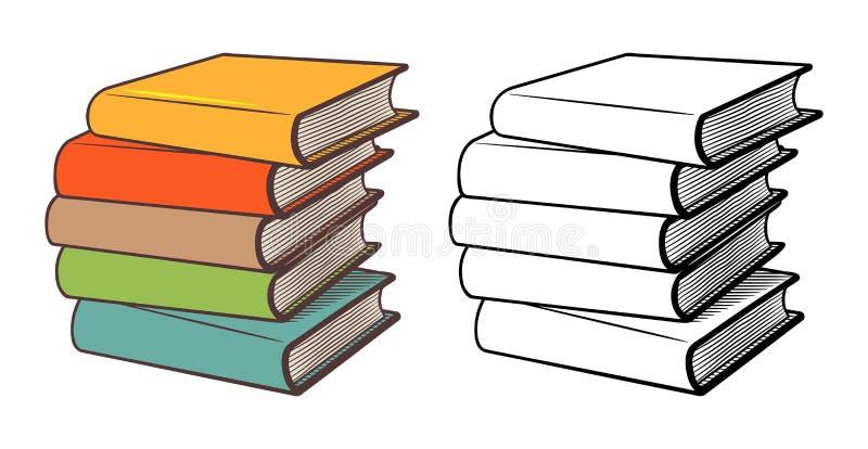 Pilhas de livros ilustração do vetor