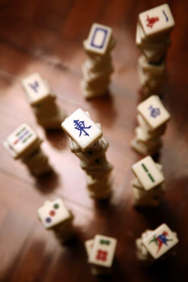 Pilhas de telhas do mahjong imagem de stock royalty free