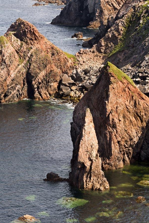Pilhas do mar em Lewis imagens de stock
