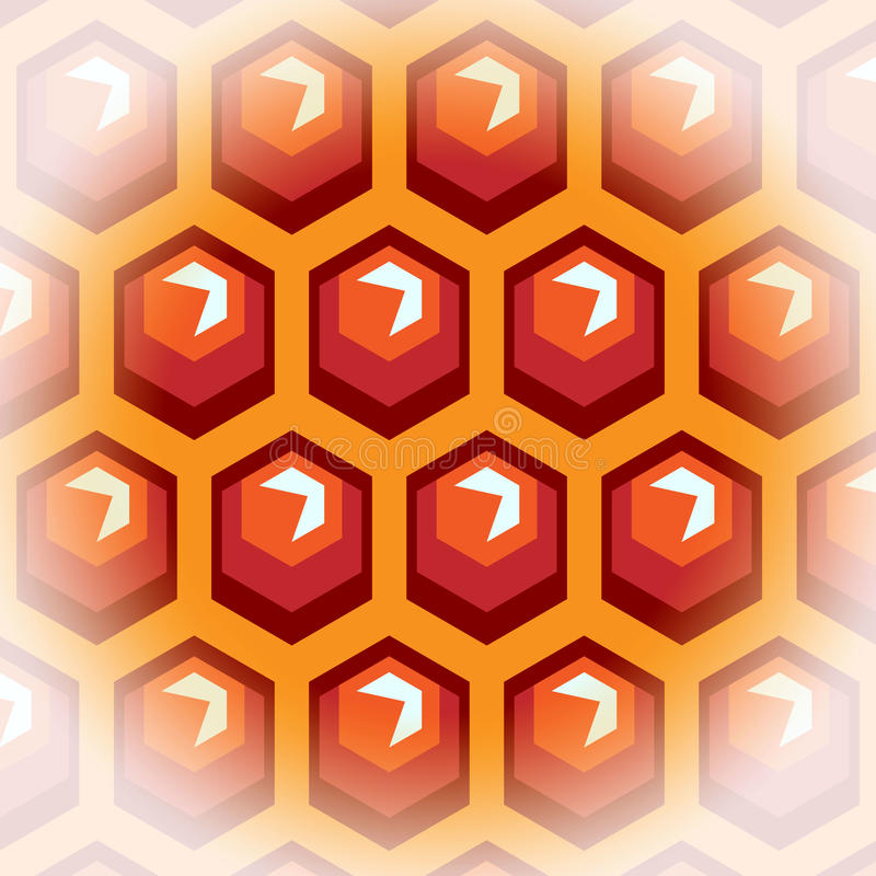 Pilhas do mel da abelha. Fundo 2. ilustração royalty free