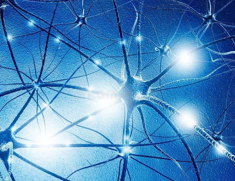 Pilhas do neurônio ilustração royalty free
