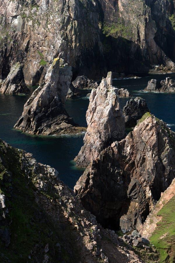Pilhas escocesas do mar em Lewis foto de stock royalty free