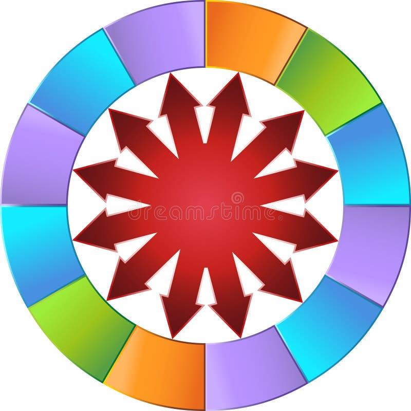 pilhjul royaltyfri illustrationer