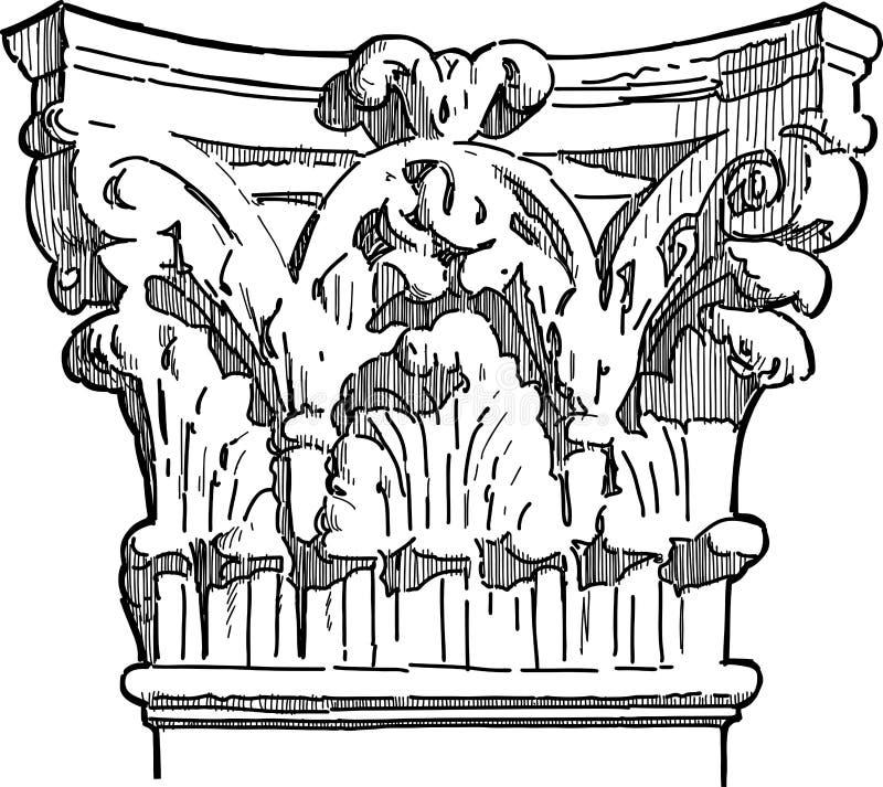 Pilier antique illustration stock