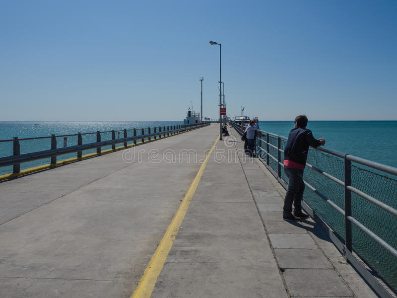 Pilier chez Puerto Madryn, Argentine photo libre de droits