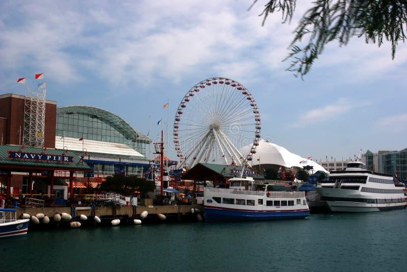 Pilier Chicago de marine images stock