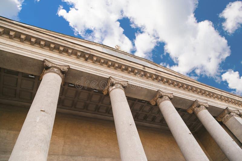 Pilier classique, architecture grecque images stock