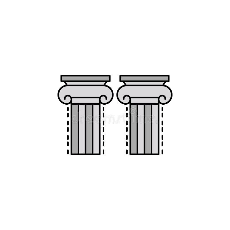 pilier, colonne, icône d'architecture Élément d'icône de couleur d'histoire pour des applis mobiles de concept et de Web Pilier d illustration libre de droits
