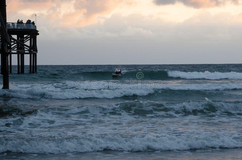 Pilier d'océan image stock