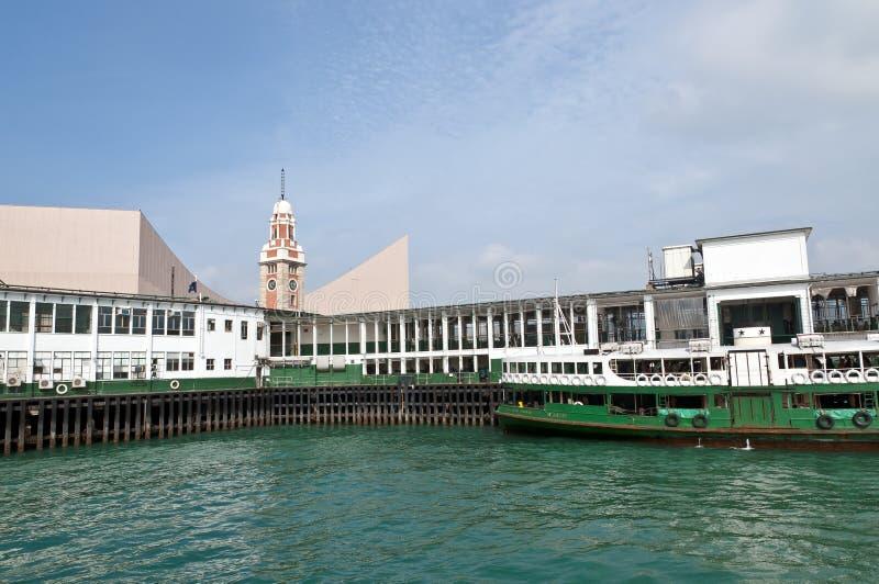 Pilier de bac d'étoile, port de Victoria - Kowloon photo libre de droits