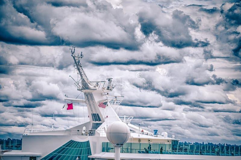 Pilier 91 de bateau de croisière à Seattle Washington photographie stock libre de droits