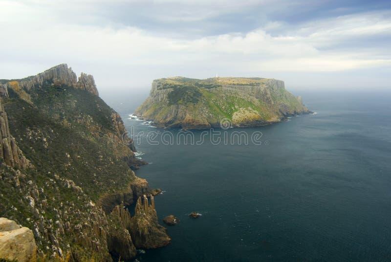Pilier de cap d'île de Tasman photographie stock