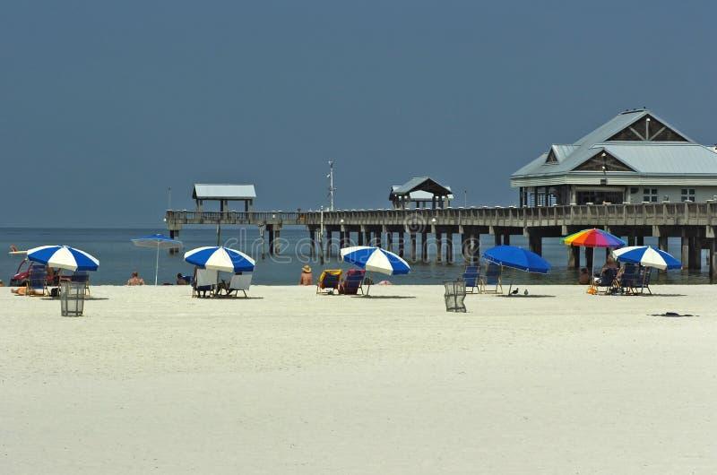 pilier de clearwater de plage images libres de droits