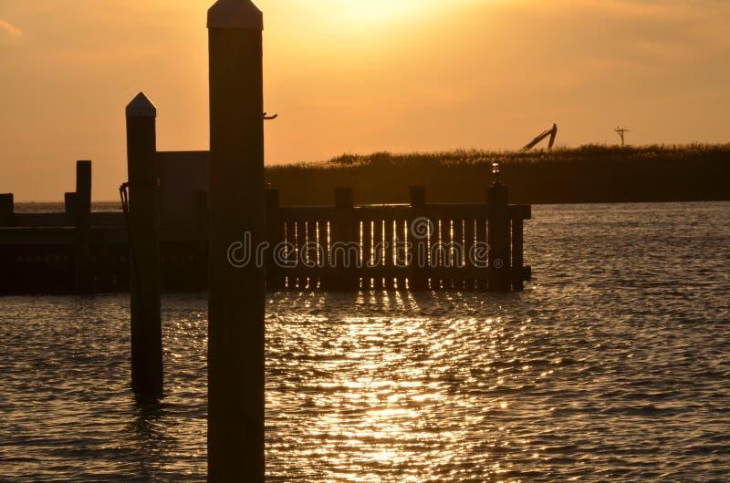 Pilier de coucher du soleil images stock