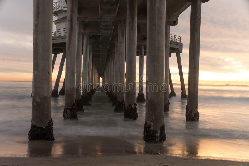 Pilier de Huntington Beach image stock