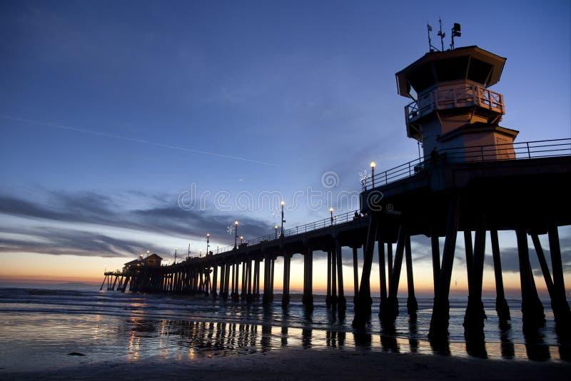 Pilier de Huntington Beach photographie stock libre de droits