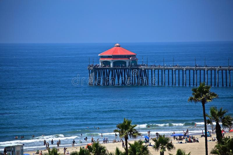 Pilier de Huntington Beach images stock
