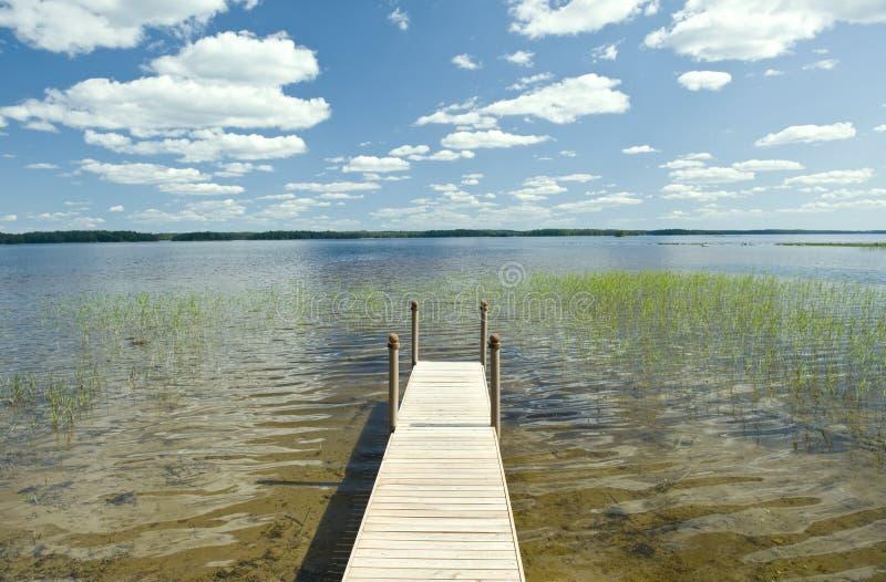 Pilier de lac finland photographie stock libre de droits