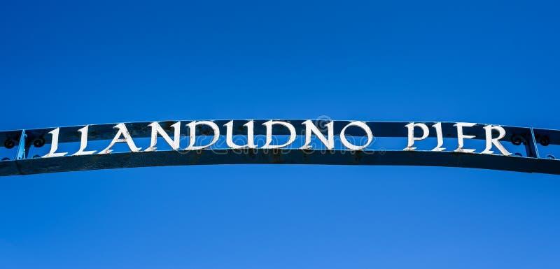 Pilier de Llandudno images libres de droits