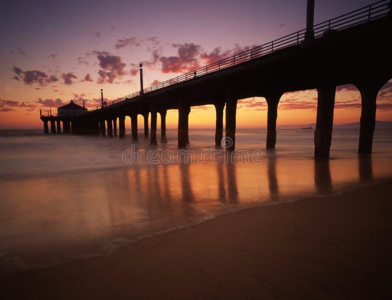 Pilier de Manhattan Beach images stock