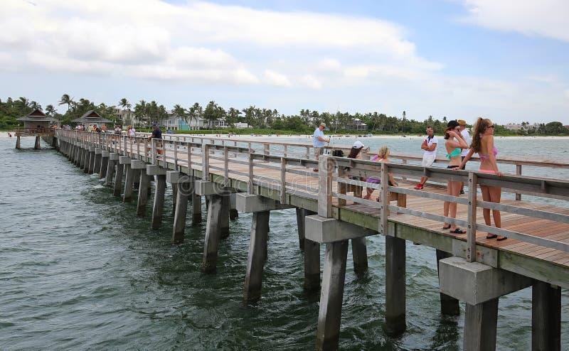 Pilier de Naples en Floride photo stock