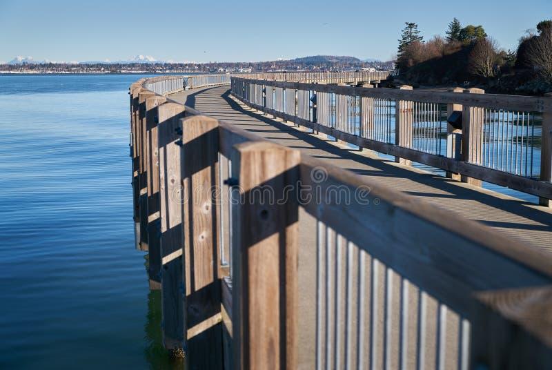 Pilier de parc de boulevard, Bellingham, Washington photo libre de droits