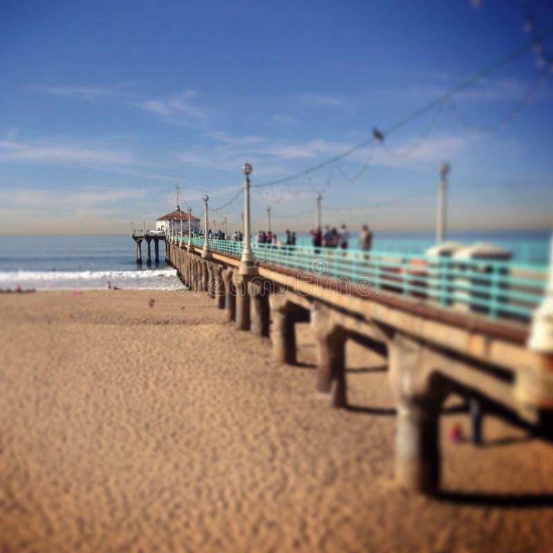 Pilier de plage photo stock